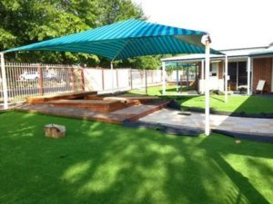 Synthetic Grass Melbourne: Laying & Joining grass at a kindergarten centre (#Extra Stong Joins)..