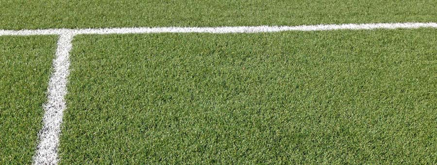 Synthetic Grass Melbourne - Banner of soccer field with lines