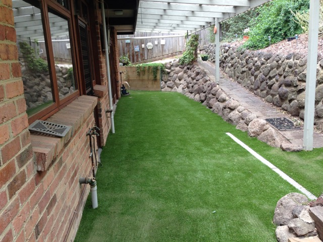 Synthetic Grass Laid and Freshly Sanded - Montmorency