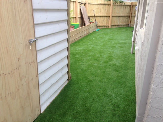 Laid and freshly sanded synthetic grass - Mornington