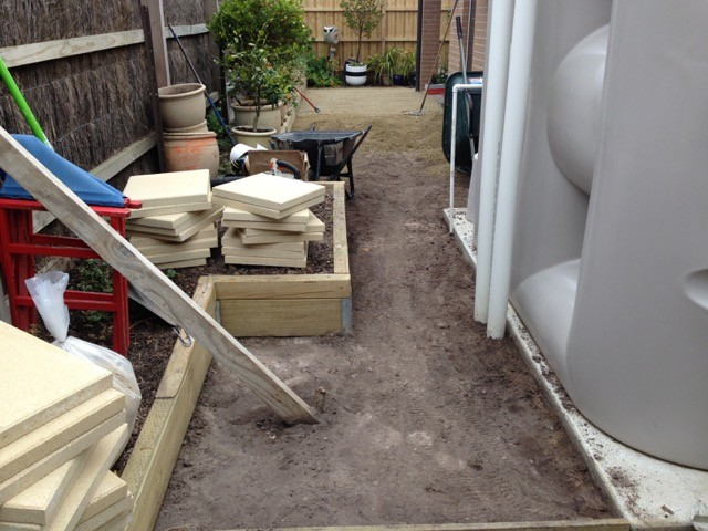 Dig out and base work for synthetic grass installation in Mornington