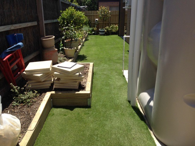 Synthetic Grass Laid & Sanded - Mornington