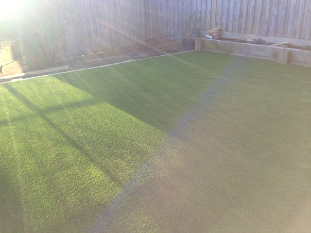 Synthetic grass supplied, installed and looking great in a mount martha back yard