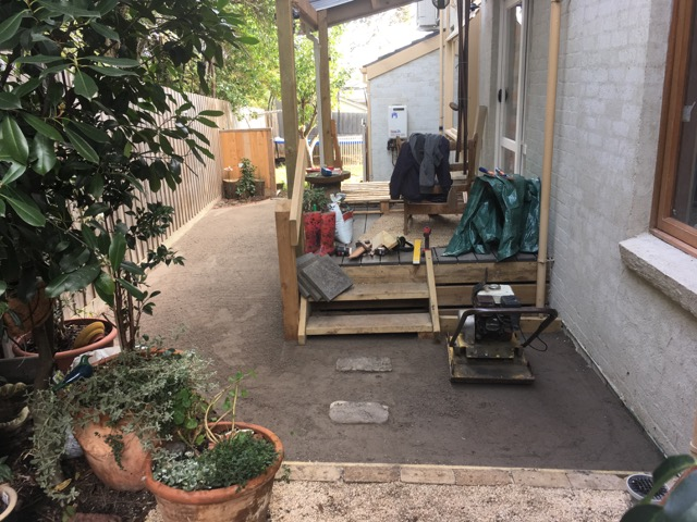 Mount Eliza - Base work for synthetic grass installtion