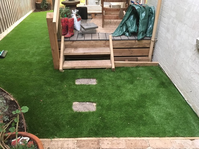 Completed synthetic grass installation on the mornington peninsula