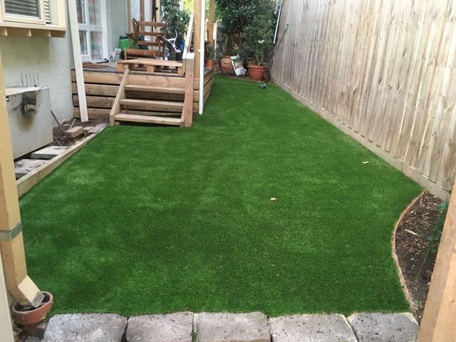 Synthetic grass installation in Mount Eliza
