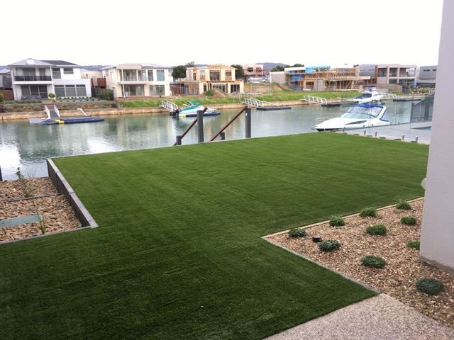 safety beach synthetic grass installation - Peninsula Synthetic Grass