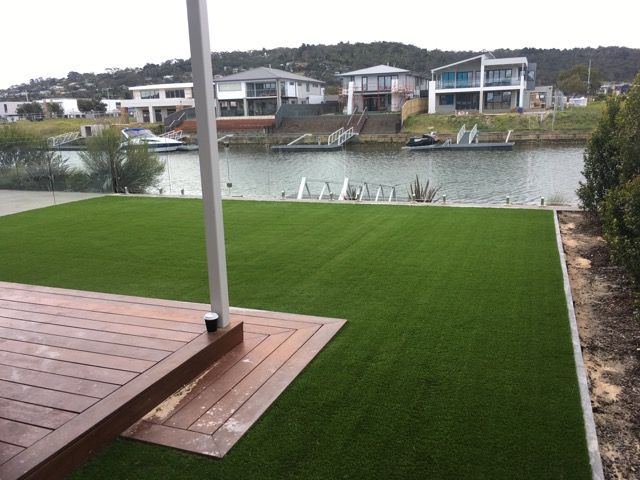 40mm Premium synthetic grass installed in Martha Cove