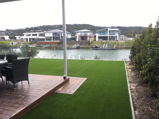 Synthetic Grass installation in Martha Cove, Safety Beach
