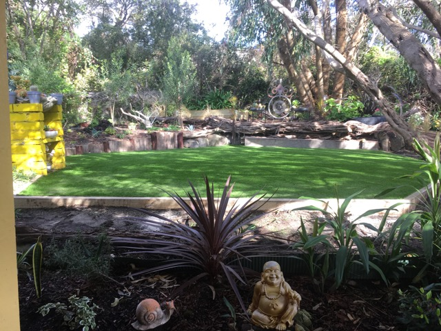 Peninsula Synthetic Grass - Synthetic grass installed in tranquil setting in Rye, Mornington Peninsula