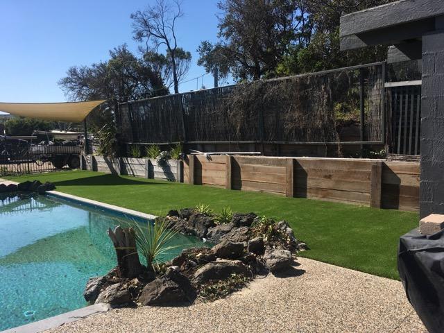 Synthetic Grass Install around pool in Rye, Mornington Peninsula