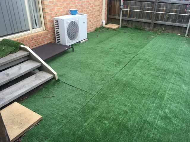 Removing and re-installing synthetic grass in Frankston - Peninsula Synthetic Grass