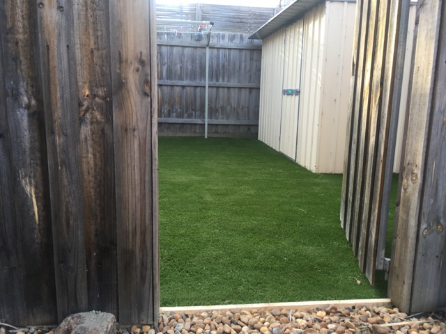 Frankston re-installation of synthetic grass