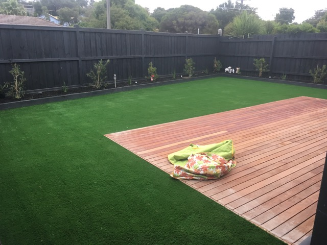 Synthetic grass install in Tootgarook  - Peninsula Synthetic Grass