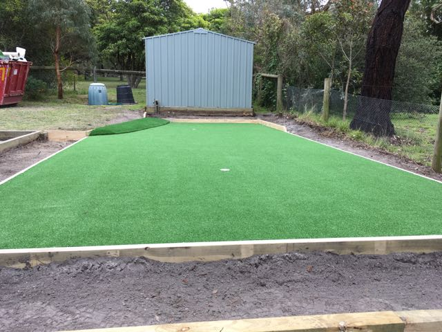 Synthetic Grass putting green installed to perfection - Mornington Peninsula